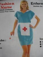 Sexy Fashion Nurse/Scrubs Nurse 3 Piece Set, Ladies Fancy Dress Costume One Size
