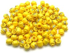 Lego 100 New Yellow Minifigure Head Glasses with Silver Sunglasses Parts