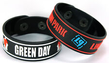 GREEN DAY LINKIN PARK NEW! 2pcs(2x) Rubber Bracelet Wristband ww130
