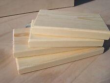 "Pack 4 - 6"" & 8"" Long x 3.70"" Deep Solid Pine Shelves Chinchilla / Parrots/Degu"