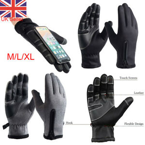 Men Winter Warm Windproof Waterproof Anti-slip Thermal Touch Screen Ski Gloves