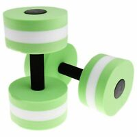 EVA Watersport Dumbbell for Fitness Water aerobics Swimming exercise Green C6I2
