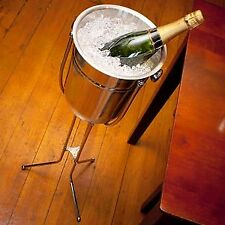 Stainless Steel Champagne Bucket with Folding Stand | Wine Bucket Set