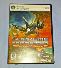 Supreme Commander: Forged Alliance (PC-DVD video game+Code, 2007) Mint Condition