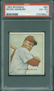 1950 Bowman 84 Richie Ashburn PSA 4 (9521)
