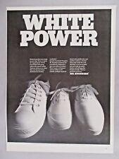 Mr. Sneekers Sneakers Footwear PRINT AD - 1968 ~~ White Power