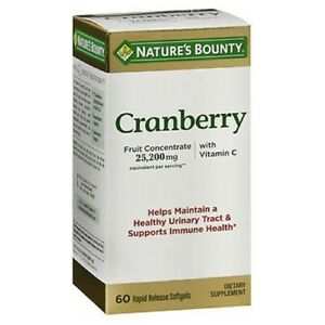 Nature's Bounty Triple Strength Natural Cranberry 60 caps