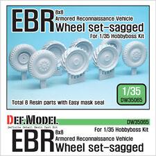 DEF. Model, DW3065, Français Panhard EBR affaissée Wheel Set (For Hobbyboss 1/35), 1:35