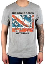 Official The Stone Roses Waterfall T-Shirt New Grey Begging You Second Coming