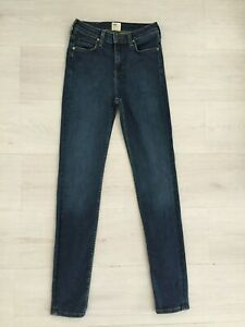 LEE 'SKYLER' JEANS SIZE W26 L33 UK 8 TALL ANKLE LENGTH SKINNY STRETCH OMBRE