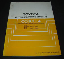Electrical Wiring Diagram Toyota Corolla Wagon 4WD Station Wagon CE90 EE90 AE92!