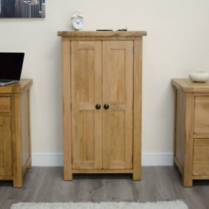 Rustic Solid Oak Hallway Furniture Shoe Storage Cupboard