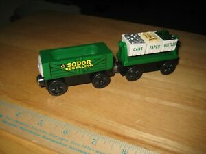 Thomas & Friends Wooden Recycling Cars 2 Trains included