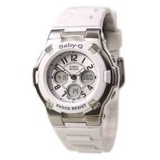 Baby-G Shock Resistant White Analog Watch BGA110-7B
