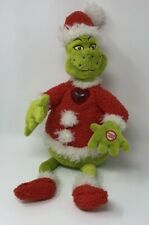 "Vintage Dr Seuss The Grinch Plush Doll Christmas Hallmark Exclusive 24"" Talks"