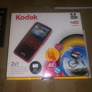 NEW Kodak Zx1 Pocket Video Camera-HD YOUTUBE-PC-MAC-BLACK