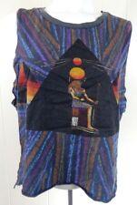 Chaser Women's Small Tank Top Crop Ra Egyptian Sun God Pyramid Multi-Color EUC