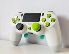 Clutch Pro-H 4 Paddle PS4 Controller DualShock 4 Green Chrome White like Scuf --