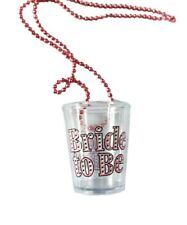BRIDE TO BE Hen Party Girls Night Out Shot Glass With Necklace Chain