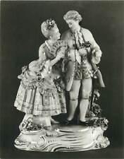 Postcard art decoration Sinaia Romania muzeul peles figurina