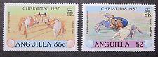 Meerestiere Krebse 3 Werte aus Sätzen mit anderen Motiven Anguila 1987  2 Bilder