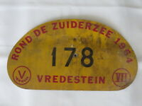 1956 Scheveningen Luxemburg Scheveningen SLS Rally Rallye Participant Plate #57
