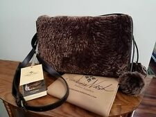 New Patricia Nash Chocolate Italian Leather Shoulder bag