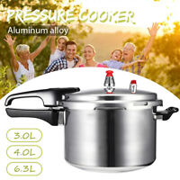 4L 5L Aluminum Alloy Pressure Cooker Family Kitchen Tool Commercial Cookware UK