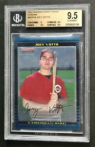 Joey Votto BDP44 Topps 2002 Bowman Chrome Draft Picks BGS 9.5 Rookie Card Reds