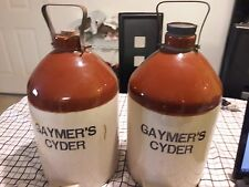 Two Vintage ceramic Gaymers Cyder Jugs without nozzle