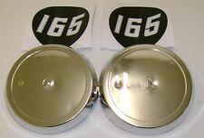 Massey Ferguson 165 2 Vinilo stickers/decals & 2 Plastic Side Insignias