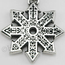 STAR OF CHAOS Pendant FIRE WHEEL Magical Warrior Runic Rune Necklace