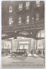 '18 Denver Co Albany Hotel New Stout St Entrance Diff Old Unused Postcard Pc4508
