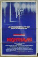 1981 Original One-SHEET Movie Poster NIGHT HAWKS Sylvester Stallone (MHPO-244)