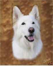 White GSD German Shepherd Dog Mousemat By Starprint