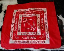 """Kitty Wells Queen of Country Music Red Bandanna Miss Kitty 22"""" Grand Ole Opry"""