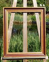 schöner Prunkrahmen Holzrahmen Massivholz 59 x 49 cm FM: 49 x 40 cm