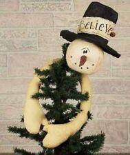 Honey & Me SNOWMAN Head tree TOPPER HUGGER ornament / bowl / ORNIES  -cl
