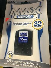 Max Memory 32Mb Memory Card Datel for Playstation 2 / Ps2 New Sealed in pck