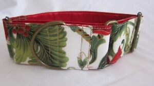 Christmas Martingale Collar, 2 inch (5 cm) wide for SMALL greyhounds or whippets