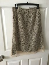 Womens Talbot 100%  Polyester Beige And Black Lined Skirt Size 6