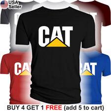 Caterpillar T-Shirt CAT Logo Tractor Equipment Men Bulldozer Construction BLD
