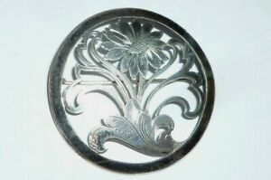 Old Brooch 835 Silver Needle Pin Lapel Pin Needle Handmade