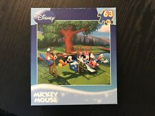 Disney Mickey Mouse MEGA Brands Jigsaw Puzzle 63 Pieces Factory Sealed #50433
