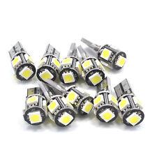 10x White T10 5SMD 5050 CANBUS ERROR Free LED Car Interior Light Dash Plate Bulb