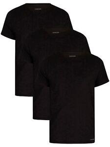 Calvin Klein Men's 3 Pack Lounge Crew T-Shirts, Black