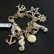 NWT COACH Beach Anchor Starfish Lobster Seahorse Pave Mix Charms Bracelet NEW