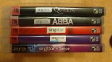 Lot of 5 SingStar Queen ABBA Volume 1 & 2 + Dance (Sony PlayStation 3 PS3)