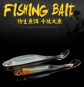 3Pcs Soft Fishing Lures Silicone Lures Bionic Fake Bait Fishtailing 10cm 4.8gram