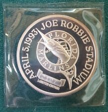 1993 Florida Marlins Inaugural Game 1 Troy Oz .9999 Silver Coin Enviromint NFL